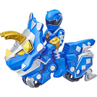 Playskool Power Rangers Figures - Blue Ranger and Raptor Cycle