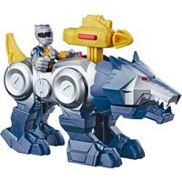 Playskool Heroes Power Rangers Ranger Figure - Silver Ranger and Wolf Zord - Power Rangers Gifts