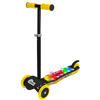 Ozbozz 3 Wheel Light Burst Light Up Scooter - Black and Yellow - Scooter Gifts