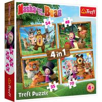 Trefl 4 in 1 Masha and The Bear 207pcs. Puzzle