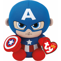 Ty Marvel Beanie Soft Toy - Captain America - America Gifts