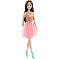 Barbie Glitz Doll - Coral Sequin Dress - Coral Gifts