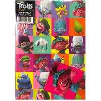 Trolls World Tour Wrapping Paper - 2 Sheets and 2 Tags