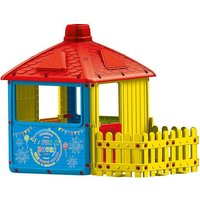 Dolu City Playhouse With Fence Feature (H135cm) | Indoor Or Outdoor Use