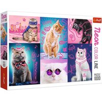Trefl Neon Super Cats Puzzle - 1000pcs.