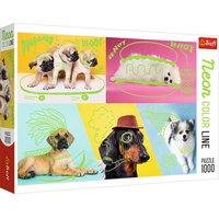 Trefl Neon Colour Line Far Out Dogs Puzzle - 1000pcs.