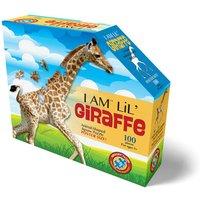 Madd Capp I Am Lil' Giraffe Animal Shaped Poster Size Puzzle - 100pcs.