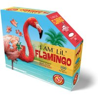 Madd Capp I Am Lil' Flamingo Animal Shaped Poster Size Puzzle - 100pcs.