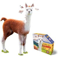 Madd Capp I Am Lil' Llama Animal Shaped Poster Size Puzzle - 100pcs.