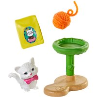 Barbie Mini Story - Kitty with Cat Stand Playset