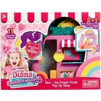 """Love Diana 3.5' Doll & 2in1 Taco, Ice-Cream Truck Playset"""