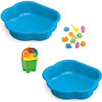 Sand and Water Play Pit Set  with Accessories - Blue