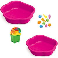 Sand & Water Play Pit Set - Pink