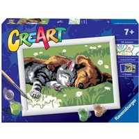 'Ravensburger: Creart Painting By Numbers - Sleeping Cats & Dogs