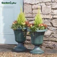 Garden Grow Set of Two Urn Planters - Verdi