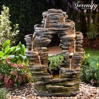 Serenity Double-Sided Rock Cascade Water Feature