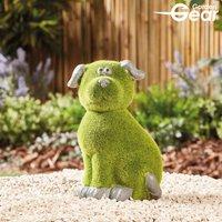 Garden Gear Flocked Effect Dog Garden Ornament