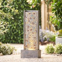 Serenity Vertical Pebble Waterfall Water Feature