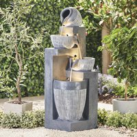 Serenity Cascading Vase and Bowls Water Feature