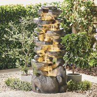 Serenity Large Six-Tier Cascading Rock Pool Water Feature