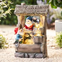 Serenity Gnome Wishing Well Water Feature