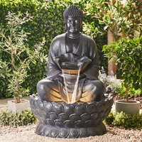 Serenity Extra Large Buddha on a Lotus Flower Water Feature