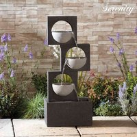 Serenity Modern Granite-Effect Cascading Bowls Water Feature