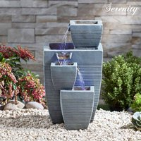 Serenity Table-Top Oblong Stone-Effect Water Feature