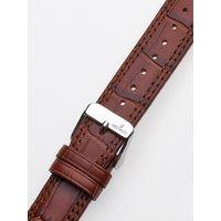 Uhrenarmband 20 x 185 mm braun silberne Schliesse