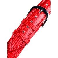 Bossart universal Ersatzband Leder 20 mm rot, snake