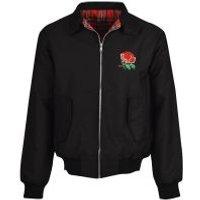England 1980 Rugby Black Harrington Jacket