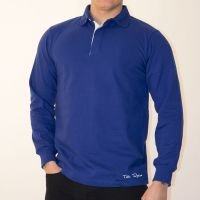 TOFFS Classic Retro Royal Blue Rugby Style Long Sleeve Shirt