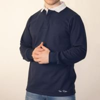 TOFFS Classic Retro Navy Long Sleeve Rugby Stlye Shirt
