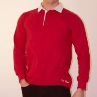 TOFFS Classic Retro Red Long Sleeve Rugby Style Shirt
