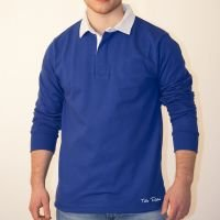 TOFFS Classic Retro Royal Blue Long Sleeve Rugby Syle Shirt