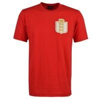 England Gold 1930`s T-Shirt - Red