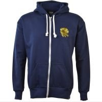 England Rugby 6 Nations Gold Rose Zip Hoodie - Navy