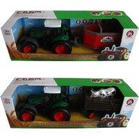 Tractor Met Aanhanger 42 Cm 2 Assorti