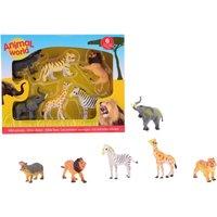 Wilde Dieren Animal World 6 Stuks