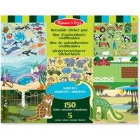 Maak zelf de leukste, grappigste of spannendste plaatjes met het stickerboek groot dieren 35 x 28 cm  bezoek ...