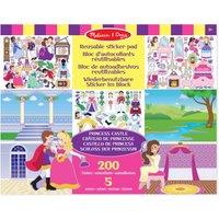 Maak je eigen koninklijke verhalen met het mooie stickerboek groot prinses 35 x 28 cm  in dit stickerboek ...