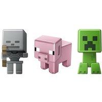 Minecraft - Pack 3 Mini Figuras - Skeleton, Pig y Creeper