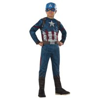 Capitán América - Disfraz Infantil Clásico 8-10 años