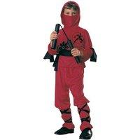 Disfraz Infantil - Ninja Rojo 8-10 años