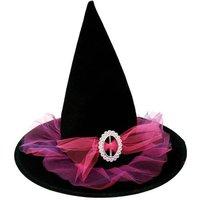 Sombrero de Bruja Tul Rosa 58 cm