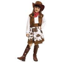 Disfraz Infantil - Vaquera Blanco y Marrón 7-9 años