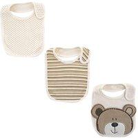 Babies R Us - Pack 3 Baberos Recién Nacido Oso
