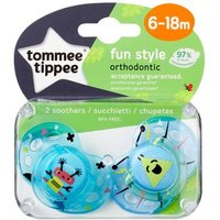 Tommee Tippee - Pack 2 Chupetes Fun Style 6-18 meses (varios modelos)