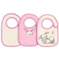 Babies R Us - Pack 3 Baberos Recién Nacido Bunny