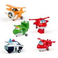 Super Wings - Mira, Jett, Paul, Grand Albert - Pack 4 Transform-a-Bots
